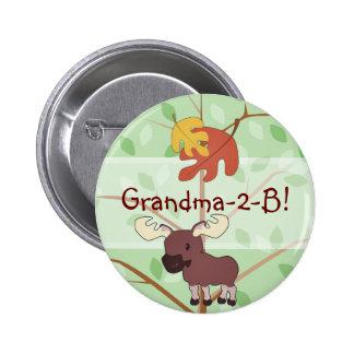 Woodland Moose Button