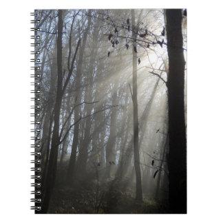 Woodland Morning Mist Photo Notebook