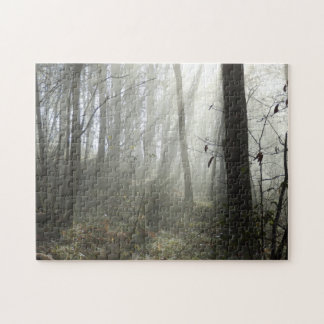 Woodland Morning Mist Photo Puzzle with Gift Box