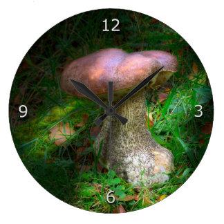 Woodland Mushrooms - Penny Bun, Porcino Large Clock