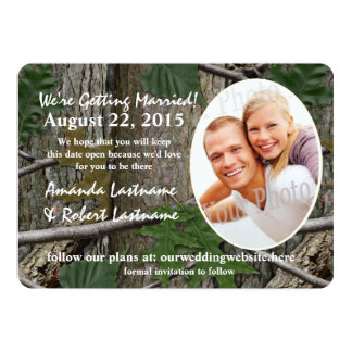 Woodland Nature Calendar Photo Save the Date 5x7 Paper Invitation Card