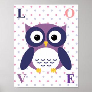 Woodland Nursery Decor Wall Art Owl