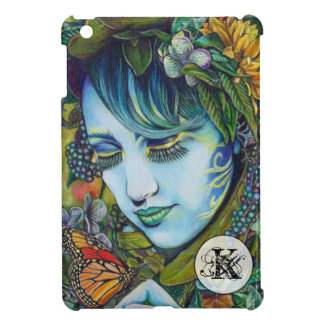Woodland Nymph and Butterfly Friend iPad Mini Cover