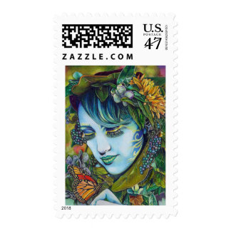 Woodland Nymph and Butterfly Friend Postage