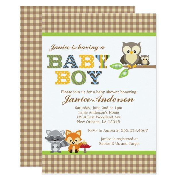 owl baby shower invitation boy, Baby shower invitations