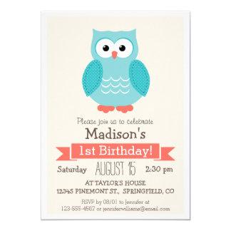Woodland Owl Birthday Party Invitation