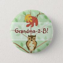 Woodland Owl Button