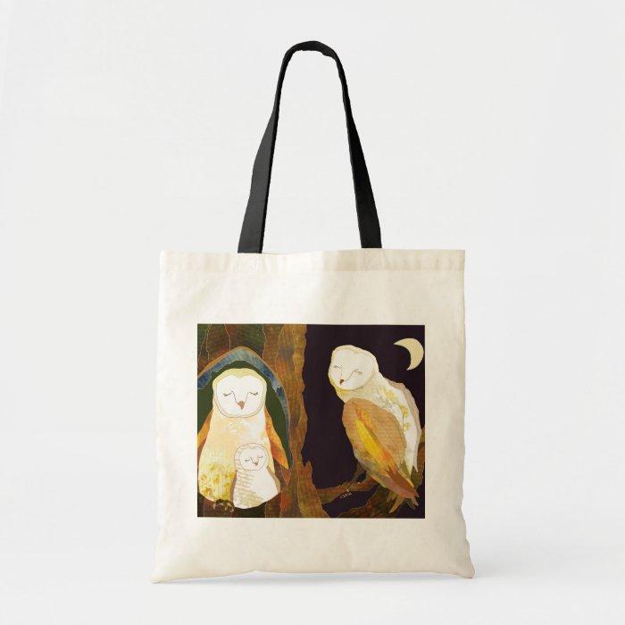 Woodland Owl Family Tote Bag