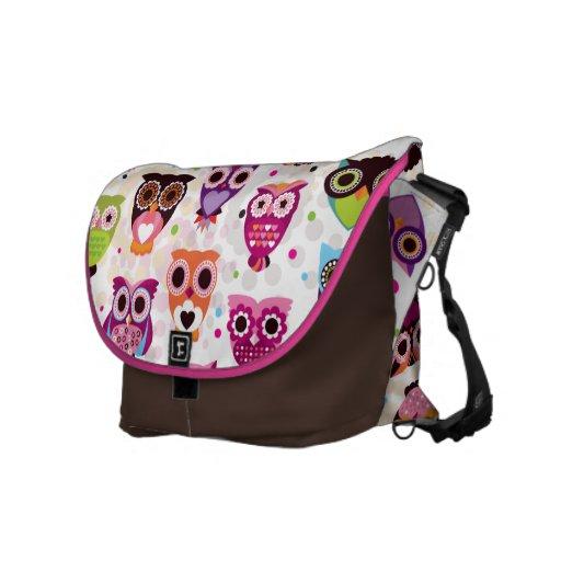 Woodland Owl Forest Hoot Night Owl Messenger Bag