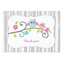 Woodland Owl Thank You Note Cards