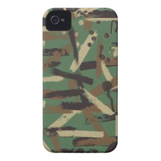 Woodland Paint Stroke Camouflage iPhone 4 Case