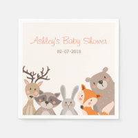 Woodland Paper Napkin Animals Forest Bear Fox