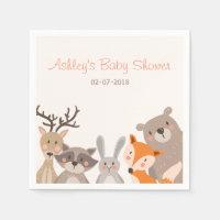 Woodland Paper Napkin Animals Forest Bear Fox
