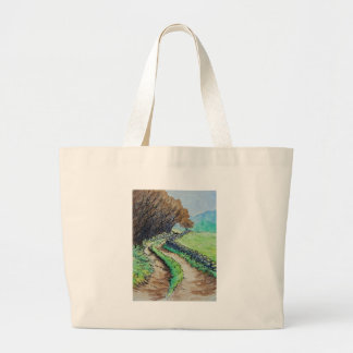 woodland path landscape drawing bags