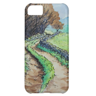 woodland path landscape drawing iPhone 5C cases