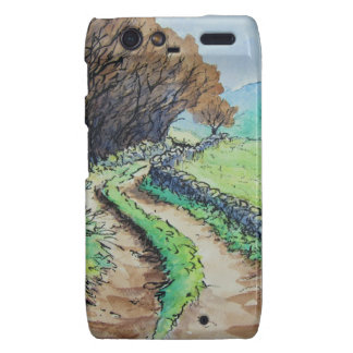 woodland path landscape drawing motorola droid RAZR cover