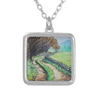 woodland path landscape drawing pendants