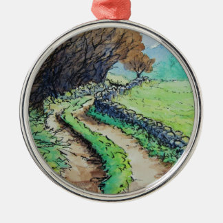 woodland path landscape drawing christmas ornaments