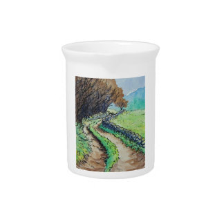 woodland path landscape drawing pitcher