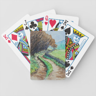 woodland path landscape drawing deck of cards