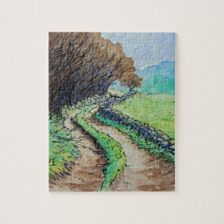 woodland path landscape drawing puzzles
