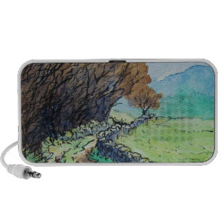 woodland path landscape drawing travel speakers