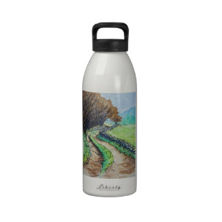 woodland path landscape drawing drinking bottles
