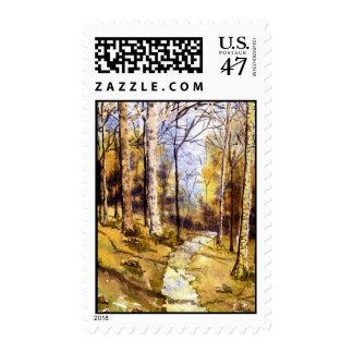 'Woodland Path' Postage