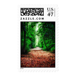 Woodland Path postage stamps