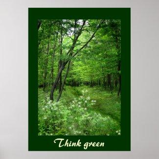 Woodland Path Think green print