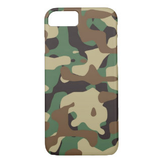Woodland Pattern Camo iPhone 7 case Cover
