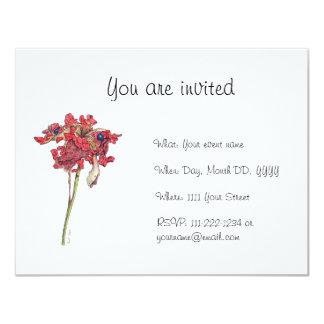 Woodland Peony Seed Pod Invitation