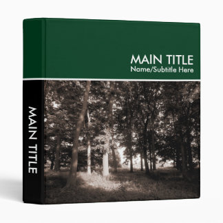 Woodland Photo Book - Dark Green (1.0in) Binder