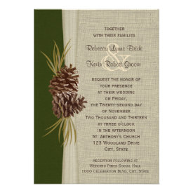 Woodland Pines Wedding Personalized Invites