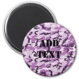 Woodland Pink/Purple Camouflage 2 Inch Round Magnet