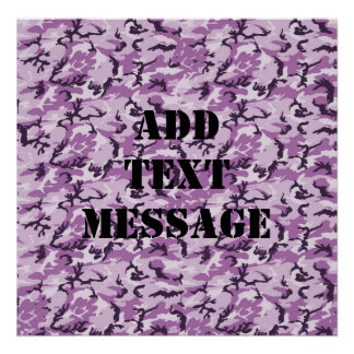 Woodland Pink/Purple Camouflage Poster