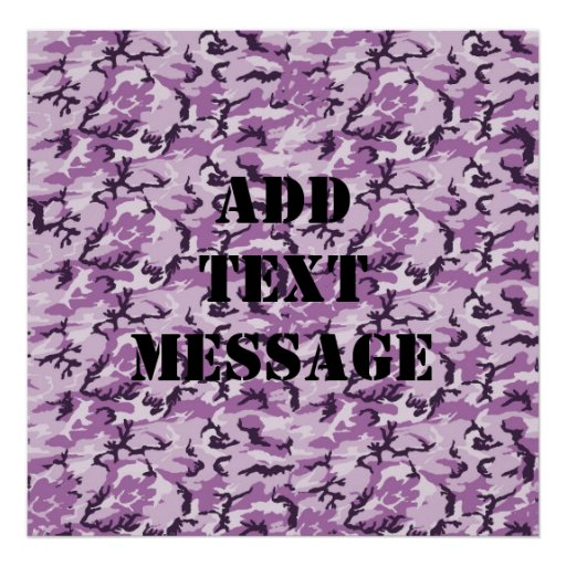 Woodland Pink/Purple Camouflage Posters