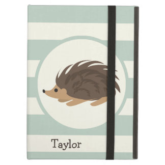 Woodland Porcupine, Hedgehog; Light Sage Green iPad Air Cover