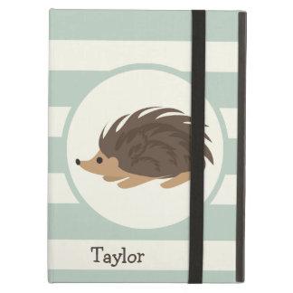 Woodland Porcupine, Hedgehog; Light Sage Green iPad Air Cover