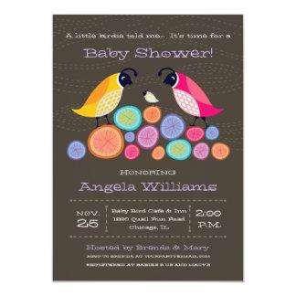 Woodland Quail Baby Shower Invitation II