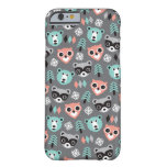 Woodland raccoon bear and owl illustration print barely there iPhone 6 case