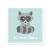 Woodland Raccoon Paper Napkin