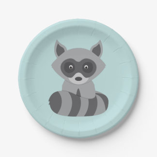 Woodland Raccoon Paper Plate