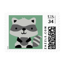 Woodland Raccoon Stamp