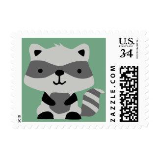 Woodland Raccoon Stamp