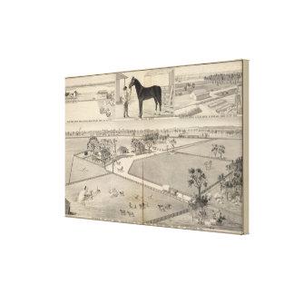 Woodland ranches canvas print