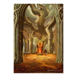 Woodland Realm Throne Room Concept 5x7 Paper Invitation Card
