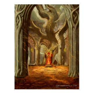 Woodland Realm Throne Room Concept Postcard