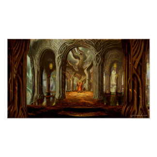 Woodland Realm Throne Room Concept Print