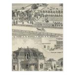 Woodland residences, farms postcard